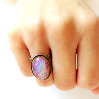 Fire Opal Ring by YouNaturally on Etsy