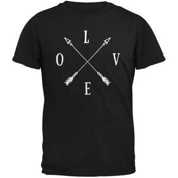 LOVE Tribal Crossed Arrows Black Youth T-Shirt