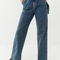 BDG Belted Straight-Leg Puddle Jean | Urban Outfitters