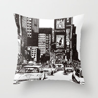 New York New York Throw Pillow by Bianca Green