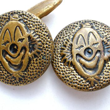 Men's Clown Cufflinks Art Deco Period