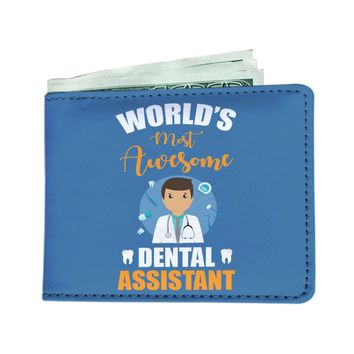 'World's Most Awesome Dental Assistant' Men's Wallet