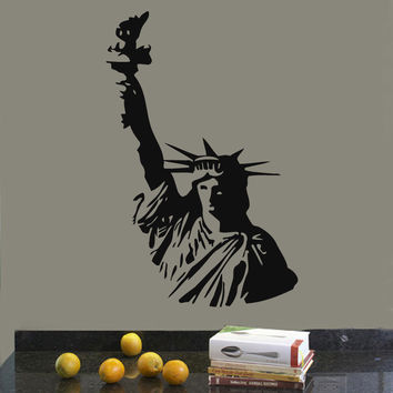 Wall Decals Vinyl Decal Sticker Art Mural Decor New York Statue Of Liberty Kj721