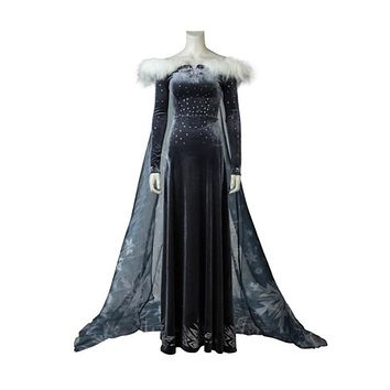 Adult Snow Queen Princess Elsa Cosplay Costume Elsa Dress Wedding Women Party Dresses Custom Made
