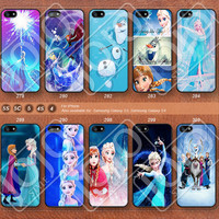 Disney Frozen Elsa and Anna Phone 5 Case, iPhone 5c Case iPhone 4 Case iPhone 5s Case iPhone 4s Case Samsung Galaxy S3 Galaxy S4 -J278