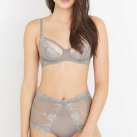 Free People Dream of Me Underwire Grey Lace Bra - Urban Outfitters