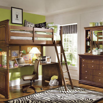Finn Cherry Twin Size Loft Bed