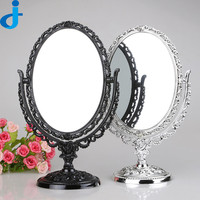 Retro Table Make Up Mirror Magic Desktop Large Double Sides Makeup Miroir Beauty Rotating Desk Standing Mirrors Espelho SC196