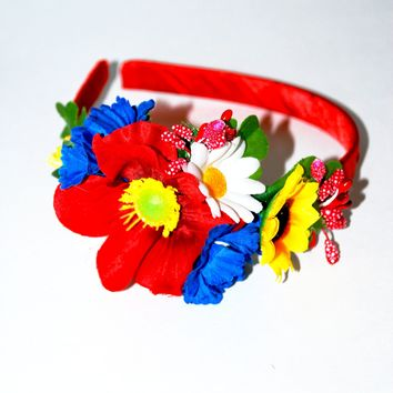 "Head band ""Wild bouquet"""