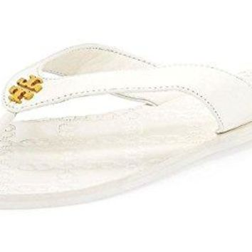 Tory Burch White Monroe Sandals