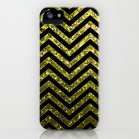 ZigZag Gold Sparkley G190 iPhone & iPod Case by MedusArt