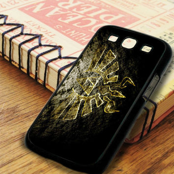 The Legend Of Zelda Triforce Logo Texture Stone Samsung Galaxy S3 Case