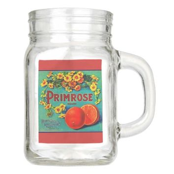 Vintage fruit advertisement mason glass mason jar