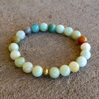 Smooth Amazonite Mala Bracelet