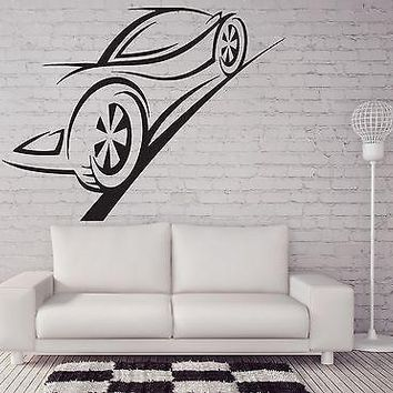 Wall Sticker Vinyl Decal Contour Ghost Racing Car Brakes Trail Unique Gift (n221)