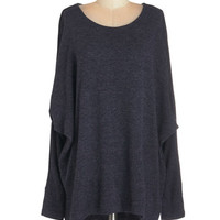 ModCloth Mid-length Long Sleeve On Trail, Exhale Sweater