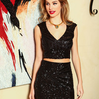 Midnight Goddess Sequins Skirt