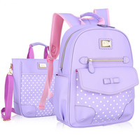 New Fashion Children School Bags for Girls Backpack Kids BookBag Child Printing Backpacks Girl Bow Suit satchel rucksack mochila