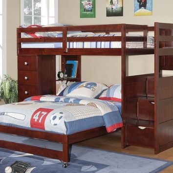 Jacob Twin over Full Bunk with Stairs