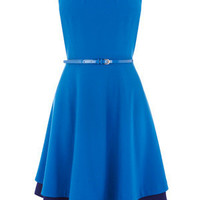 Oasis All Dresses | Dark Blue Fit and Flare Dress | Womens Fashion Clothing | Oasis Stores UK