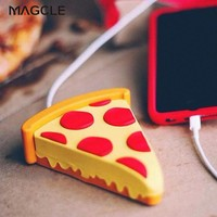 for Christmas Real 1800mah Pizza Power Bank eMoji Charger for iphone 7 iphone 7 plus USB Pizza external charger dropshipping