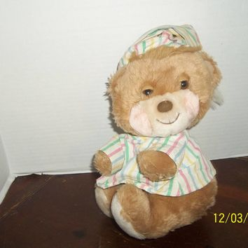 vintage 1985 fisher price quaker oats 1401 teddy beddy bear plush