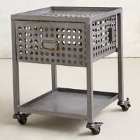 Galvanized Nightstand by Anthropologie Grey One Size House & Home