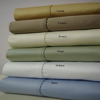 California King GOLD Un Attached Waterbed 1000 Thread count Solid Sheets