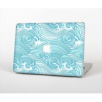 The Seamless Blue Waves Skin Set for the Apple MacBook Air 13""