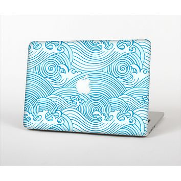 "The Seamless Blue Waves Skin Set for the Apple MacBook Pro 15"" with Retina Display"
