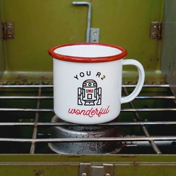 You R2 Wonderful Enamel Camping Coffee Mug