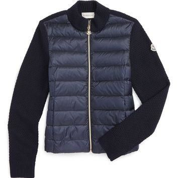 Moncler Mixed Media Down Jacket (Little Girls & Big Girls) | Nordstrom