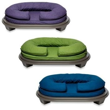 Katherine Elizabeth Lucky Bolster Pet Bed with Porpoise Ottoman