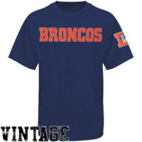 47 Brand Denver Broncos Fieldhouse T-Shirt - Navy Blue