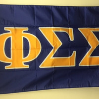Phi Sigma Sigma Letter Sorority Flag 3' x 5' by GreekLifeStuff