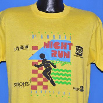 90s Dayton Night Run 1992 Burger King t-shirt Large