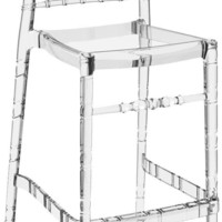 Chiavari Polycarbonate Barstool Transparent Clear (Set of 2)