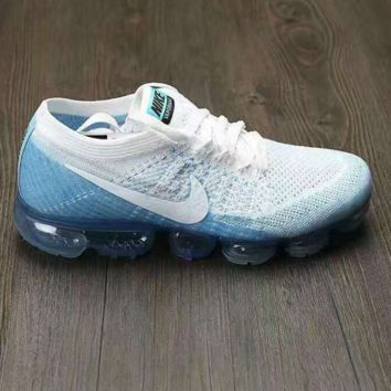 NIKE AIR MAX KNIT Breathable Sneakers Running shoes White blue