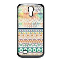 Floral Tribal Andes Aztec Design Printed Samsung Galaxy S4 I9500 Custom Hard Custom Case Protector Snap On
