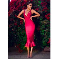 ALINE  fishtail special bandage dress in 4 colors BQH2343