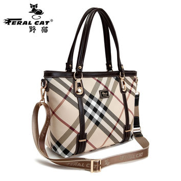 FERAL CAT New Designer Handbags High Quality Luxury Handbags Women Bags Designer Stripe Women Handbag Shoulder Fashion Sac Femme