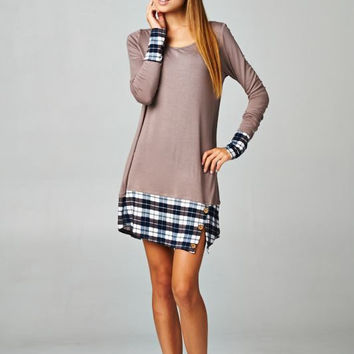 Mad For Plaid Dress- Multi