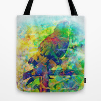 Par-riot Parrot in Costa Rica Tote Bag by Tommy Noshitsky