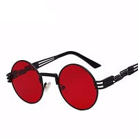 Retro Round Metal Sun glasses