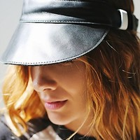 Right Tribe for Free People Womens Leather Visor