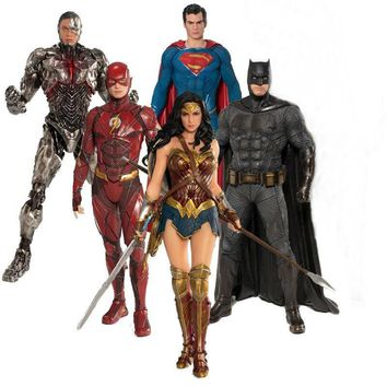 Batman Dark Knight gift Christmas DC Justice League Toys Batman The Flash Superman Cyborg Wonder Woman ARTFX Statue PVC Action Figure Collection Model Toy AT_71_6