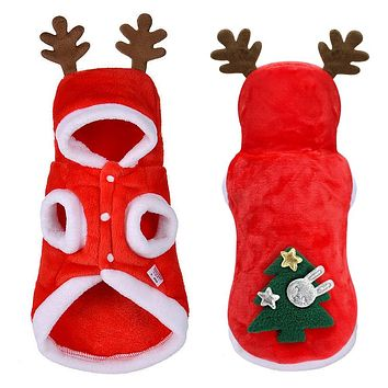 Christmas Small Dogs Santa Costume Clothes