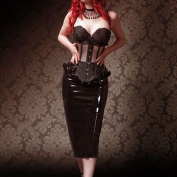 Underbust corset Aglaia by VCoutureBoutique on Etsy
