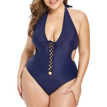 MUQGEW 2019 Womens Plus Size Swimming one piece swimsuit push up Sexy swiming suit women Summer Swimwear badpak maillot de bain