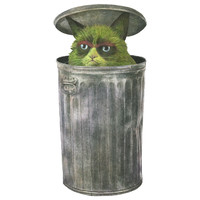 Terry Fan Grouchy Cat wall decal